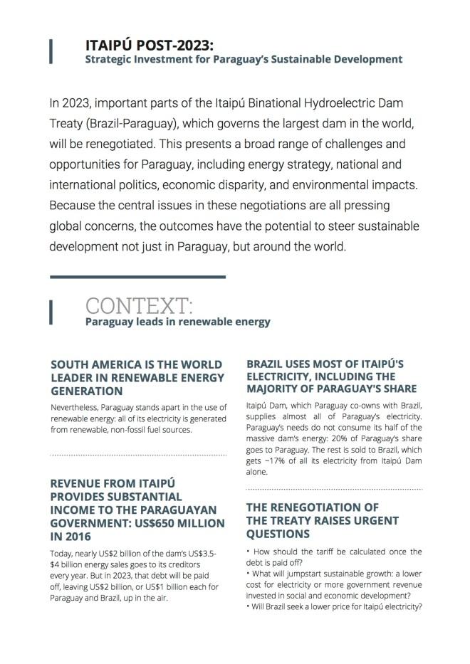 Itaipú Post-2023 summary (English)